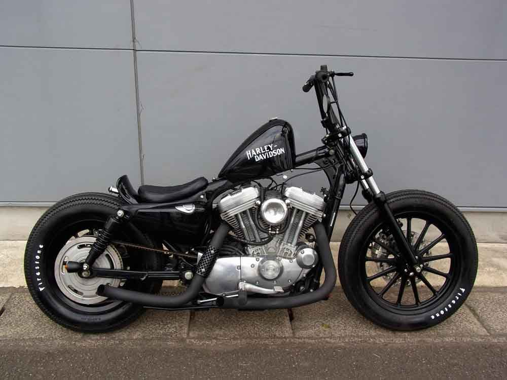 Cafe Racer Special HD Sportster 883 Bobber By Crazy Orange