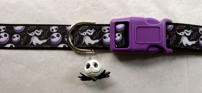 Nightmare Before Christmas Adjustable dog collar with Jack