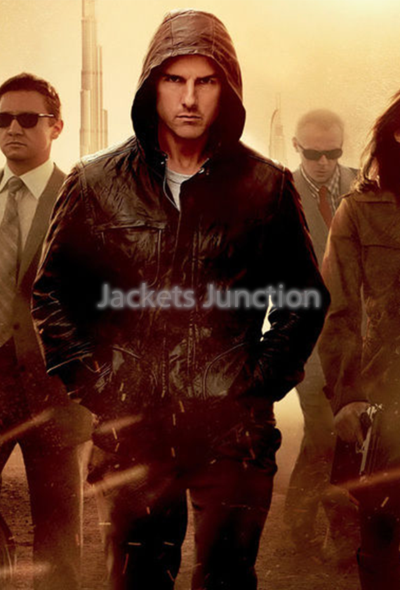Mission Impossible 4 Ghost Protocol Tom Cruise Leather Jacket Leather Jacket Hoodie Leather Jacket Tom Cruise