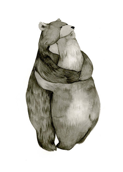 Abrazo de oso amor Original ilustracin por CatherineLazarOdell
