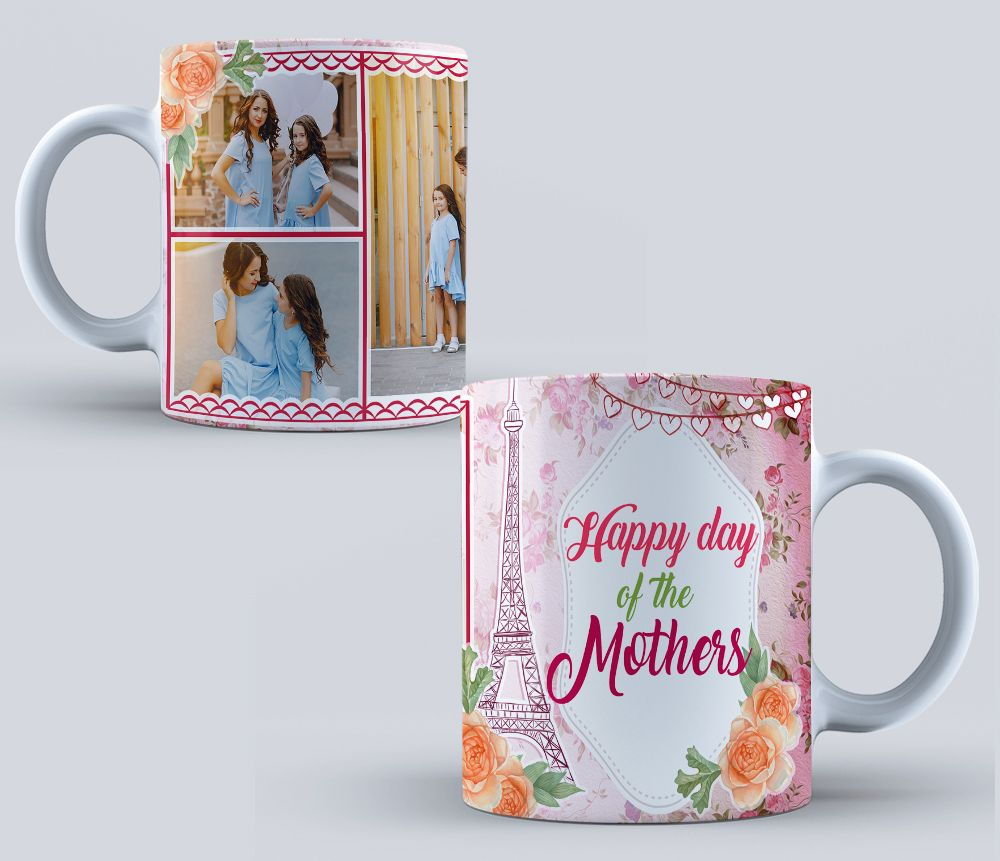DESIGN FOR MUGS COLLAGE DAY OF THE MOTHERS sublimation templates PSD ...