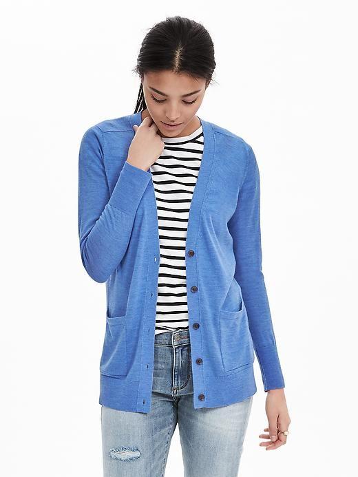Merino Wool Boyfriend Sweater Cardigan | Style - Mine | Pinterest ...