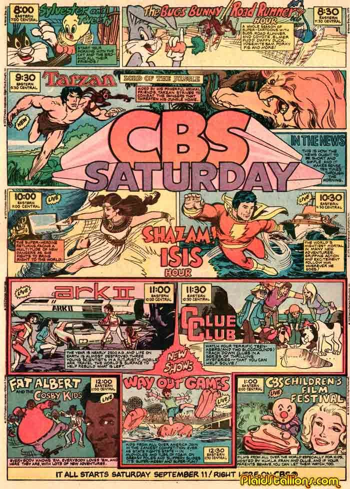 70s saturday morning cartoons CBS schedule | TV Shows I grew