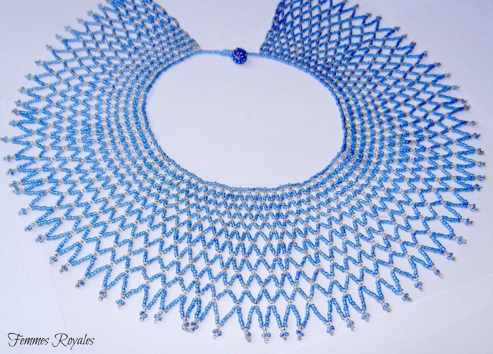 Handmade South African Beaded Necklace Follow Us On Social Media