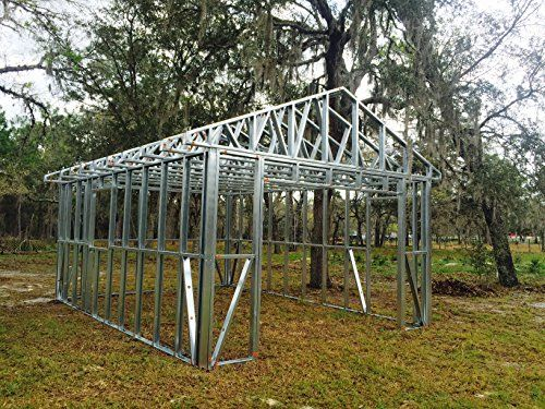 Garage Light Steel Structure 14 X 20 Frame Kit Prefab Check Out The Image By Visiting The Link Garage Lighting Steel Structure Elite Greenhouses