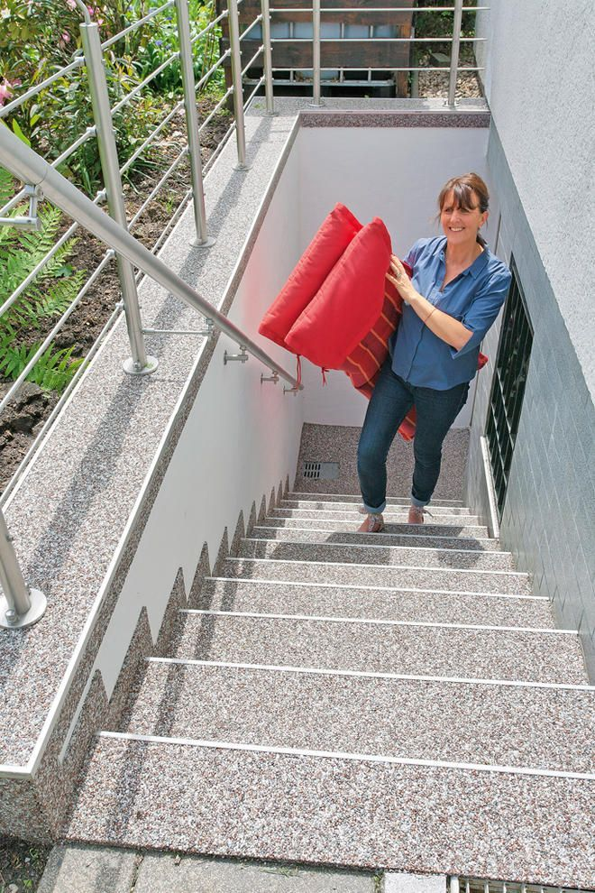 Renovierung der Außentreppe – Gartengestaltungsideen   – Gartengestaltung Vorgarten