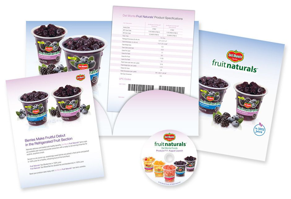 Portfolio  Branding  Sales Kits  Del Monte Foods Berries Sell