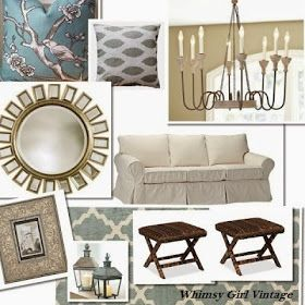 Whimsy Girl: E Design Services Coastal Living Room Design Board, Neutral  Living Area Part 14
