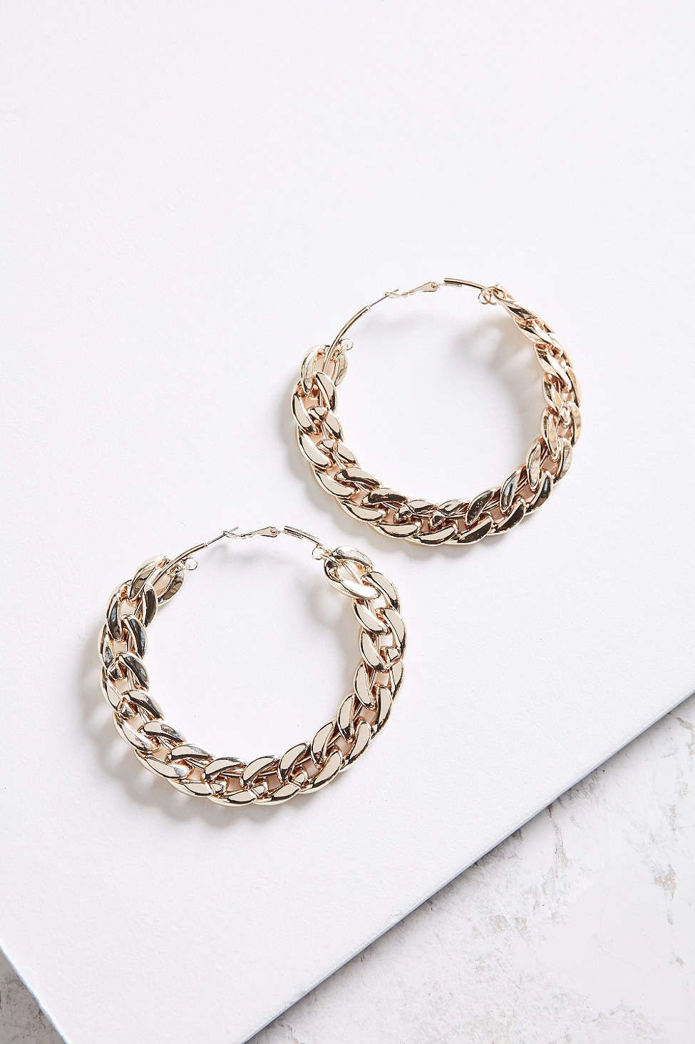 Statement Chain Hoop Earring - Urban Outfitters