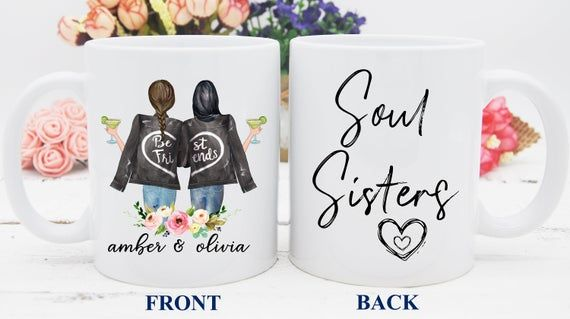 Custom Soul Sisters Mug, Soul Sister Cup, Best Friend Mug, Personalized Mug for Friend, BFF Mug, Bes