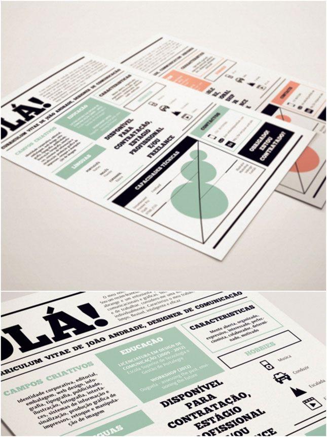 10 Curriculum Vitae Creativi Printsfonts Pinterest Creative