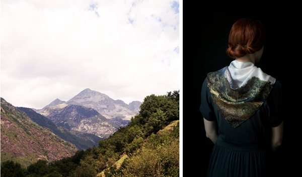 Sierra Scarves Las Coleccionistas photographed 4 limited edition scarves available here