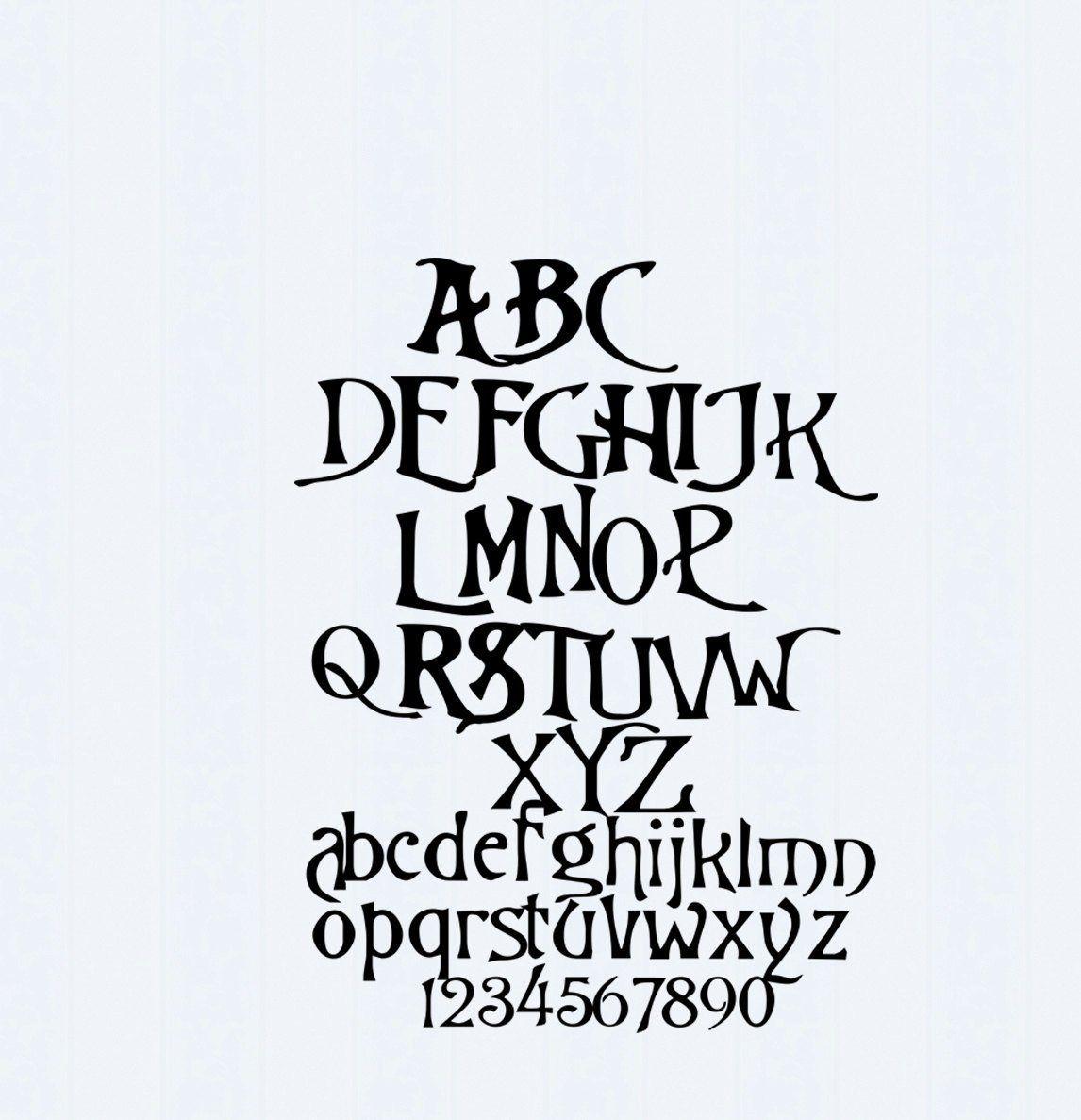 Nightmare Christmas SVG Font, Digital Alphabet, SVG