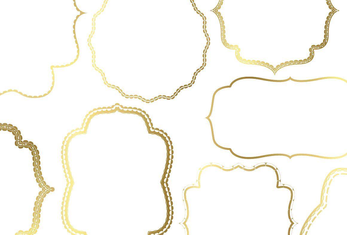 Gold Bracket Frame Bundle Frame Aesthetic Template Bracket