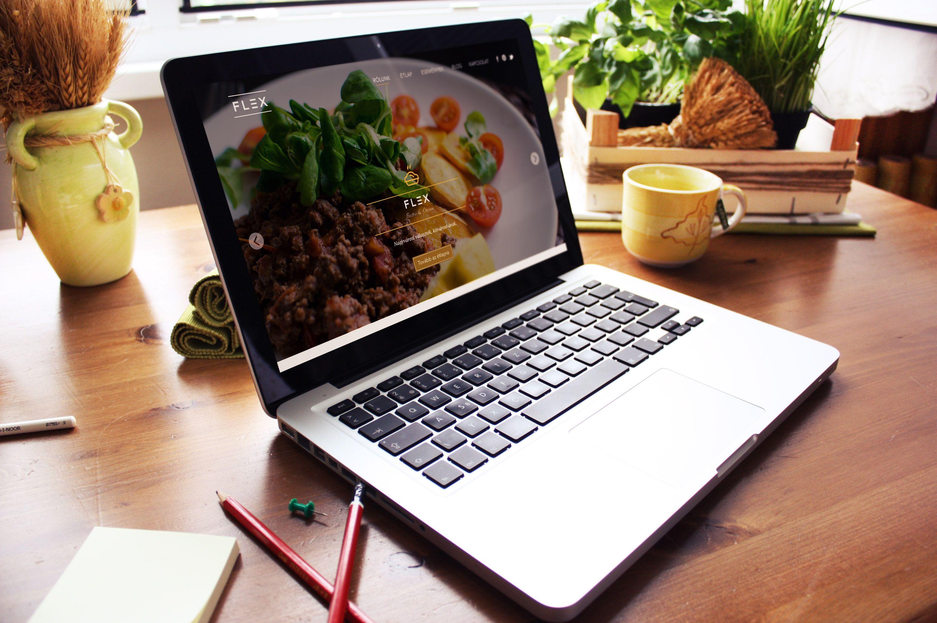 Restaurant / Café branding identity. Logo, business card, letter-head, web design, mobile app design on beautiful mockups.