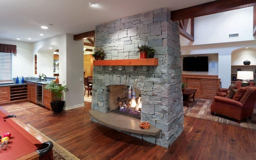 20 Functional Double Sided Fireplaces For Your Spacious Home Homesthetics Inspiring Ideas For Your Home Double Sided Fireplace Two Sided Fireplace Fireplace Design