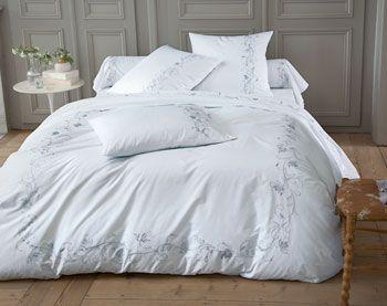Linge de lit percale brod e becquet ropa de casa for Becquet linge de table