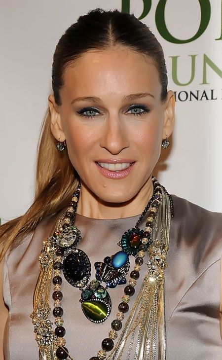 Sarah Jessica Parker inspiration Love the top all the necklaces