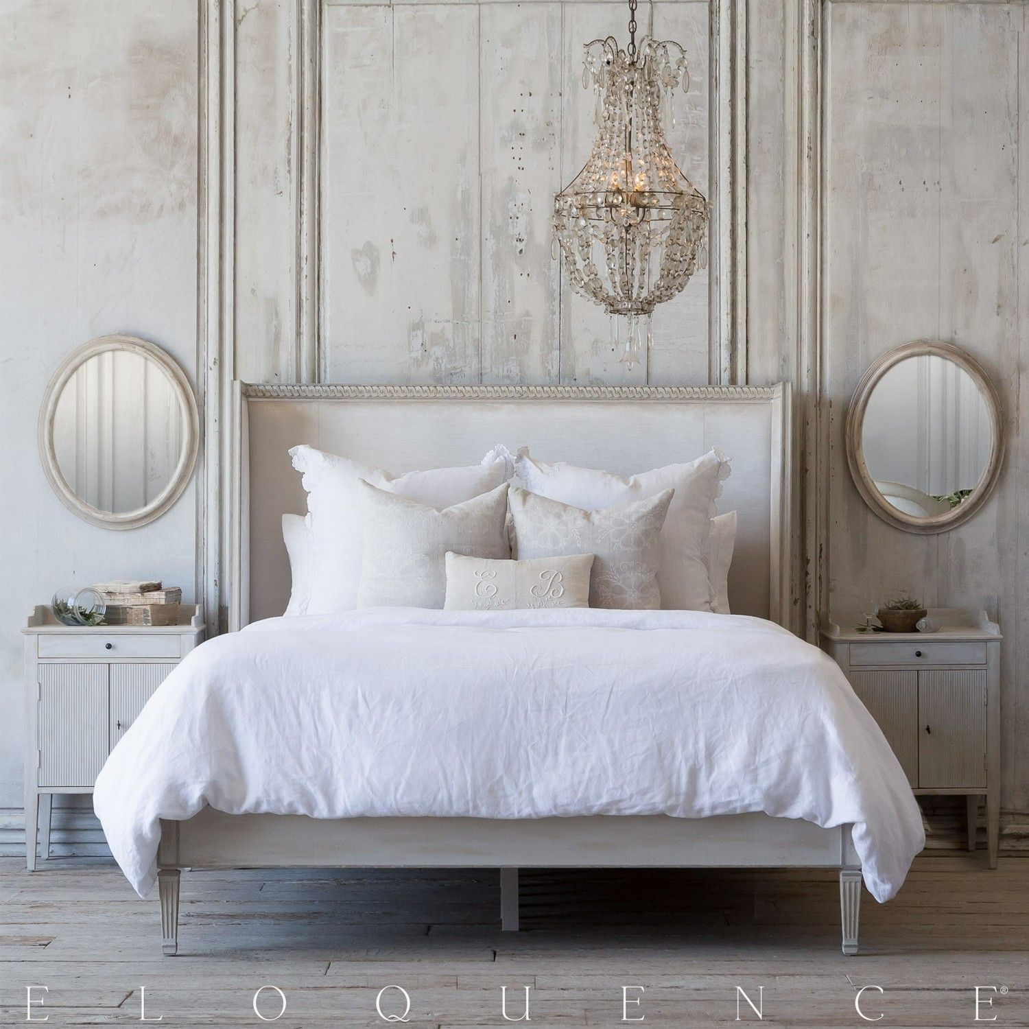 Eloquencea Cassia Bed In Lovely Antique Linen Finish A Modern