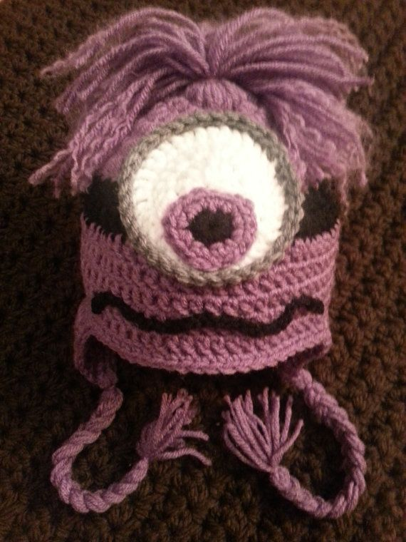 Crochet Purple Evil Minion Hat by MadebyMagissa on Etsy, $32.00 ...