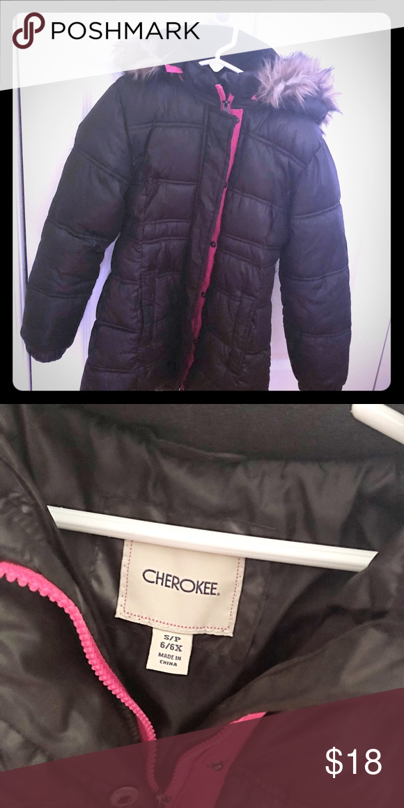 Cherokee black winter jacket for girls (size 6/6x) Gently used ...