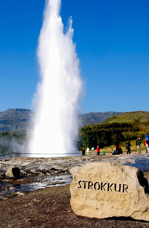 Geyser Strokkur eruption in the Geysir national park, Iceland | Iceland Travel Guide