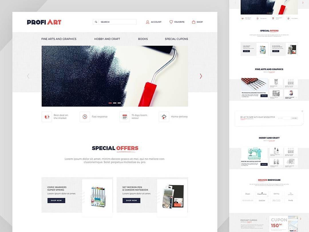 Colors art website - Light Backgrounds Bright Colors And Simple Ux Art Materials Supplier Website Webdesign