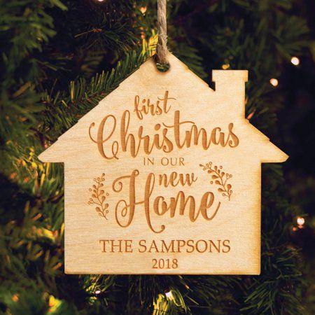 Home Wood Ornaments Christmas Ornaments House Ornaments