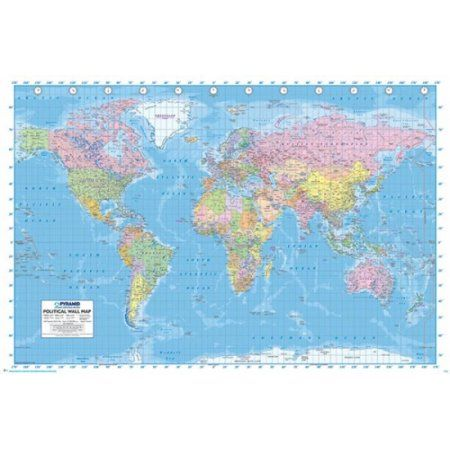 World map poster print 36 x 24 office decor ideas pinterest world map poster print 36 x 24 gumiabroncs Choice Image