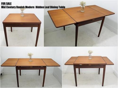 Danish Hidden Leaf Table The Farmhouse Leaf Table Table