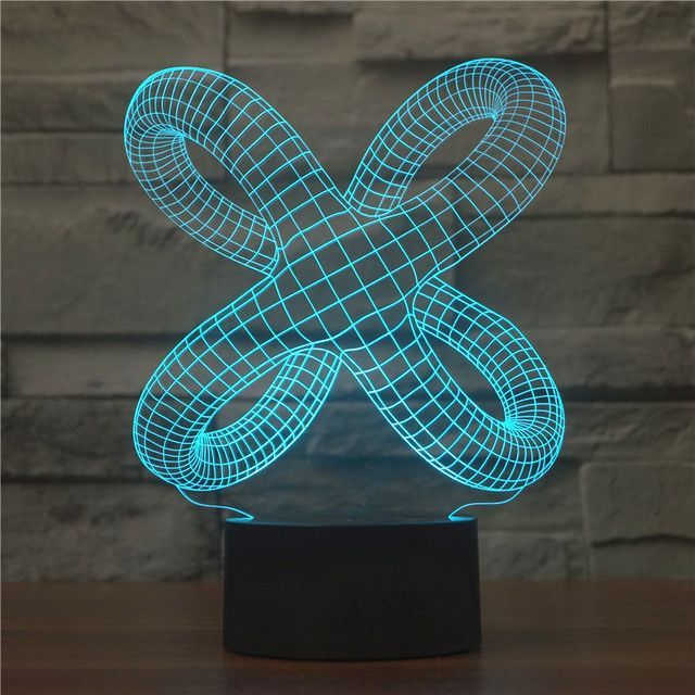 Abstract Knot Legs 3d Optical Illusion Lamp Tasarim