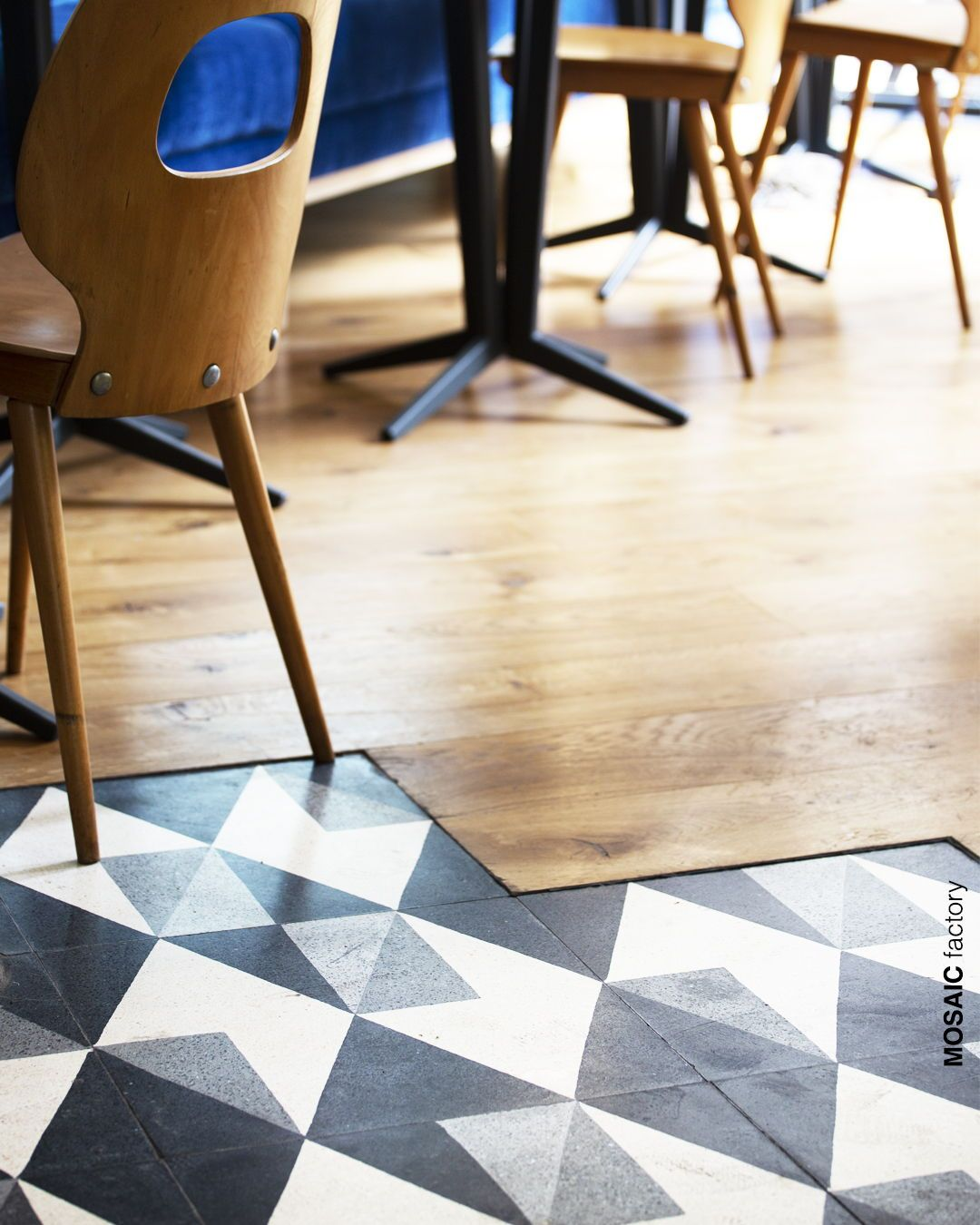 White Grey And Black Geometric Terrazzo Tiles Combined With