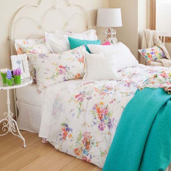 Print floral en ropa cama zara home ropa de cama for Fundas cojines zara home
