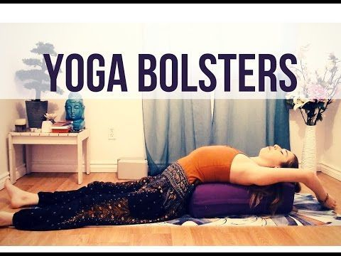 5 restorative yoga poses with bolster  restorative yoga