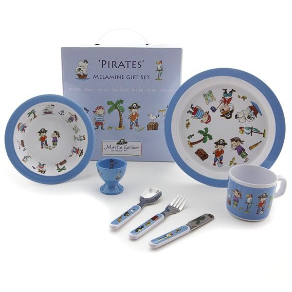 Childrens Melamine Dinner Set 7pc - Pirate  sc 1 st  Pinterest & Childrens Melamine Dinner Set 7pc - Pirate | Gifts | Pinterest ...