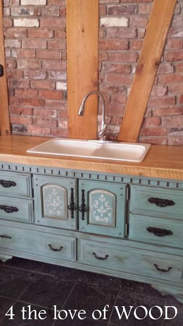 Beautiful Work Sink Made From An Old Dresser In 2019