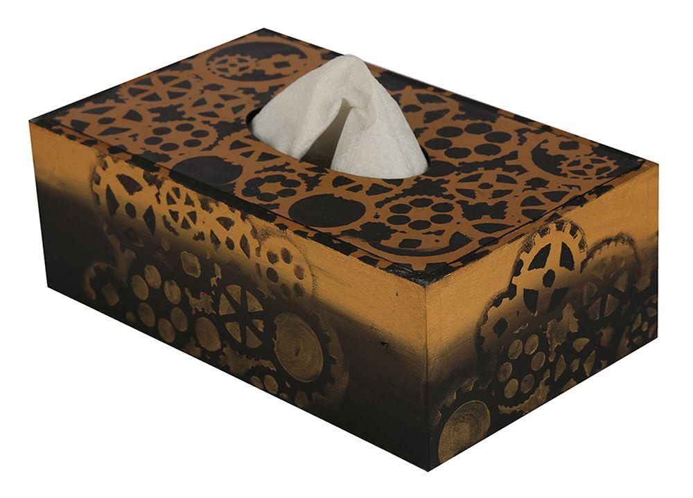 Hand-Painted Rustic Ste&unk Tissue Box Holder in MDF - Dispenser for Kleenex Tissue Boxes  sc 1 st  Pinterest & Hand-Painted Rustic Steampunk Tissue Box Holder in MDF - Dispenser ... Aboutintivar.Com