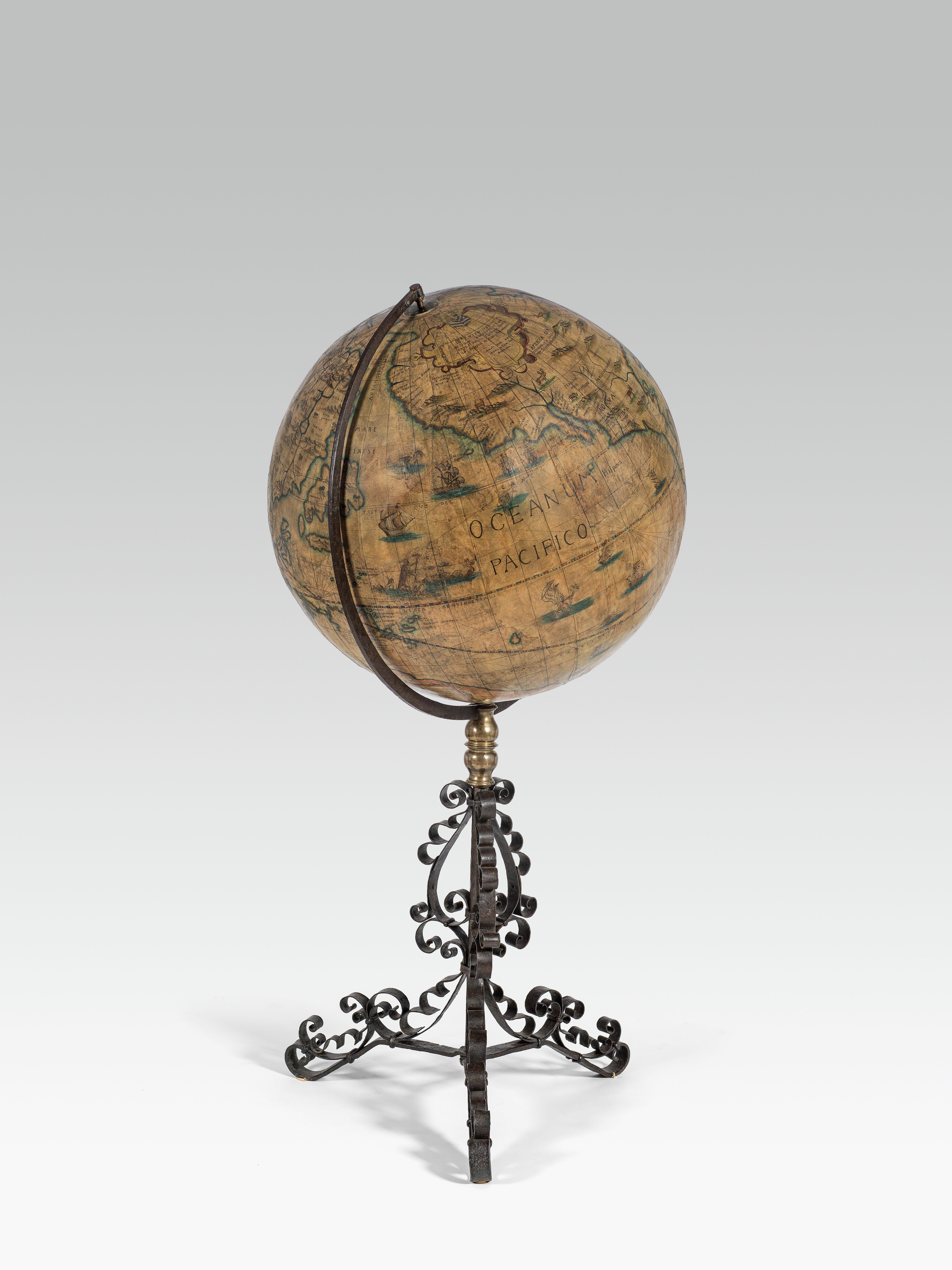 Amazing antique Big globe after Jodocus Hondius the Elder
