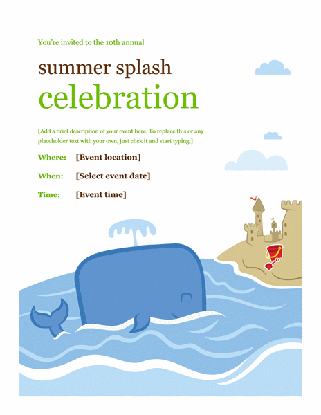 Summer Event Flyer Template Word Examples Templates I Love