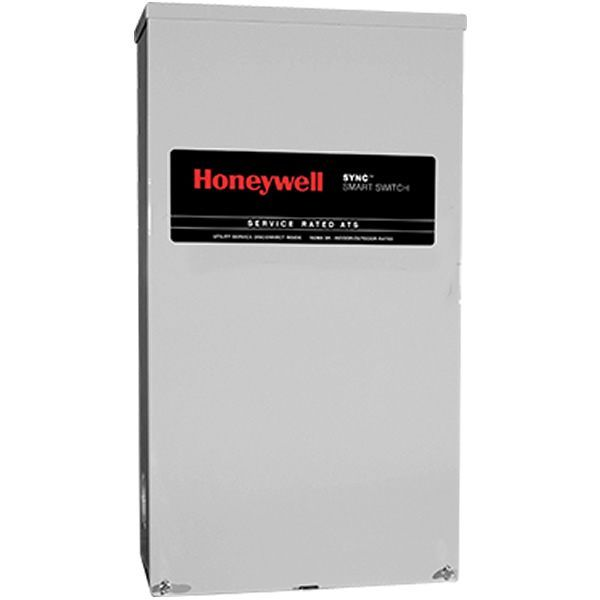 Honeywell 150 Amp Sync Smart Automatic Transfer Switch W Power Management Service Disconnect Rtsm150a3 Transfer Switch Portable Generator