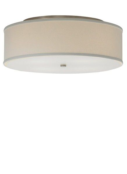 Mulberry Ceiling Mount Round Fabric Flush Mount Glass Disc
