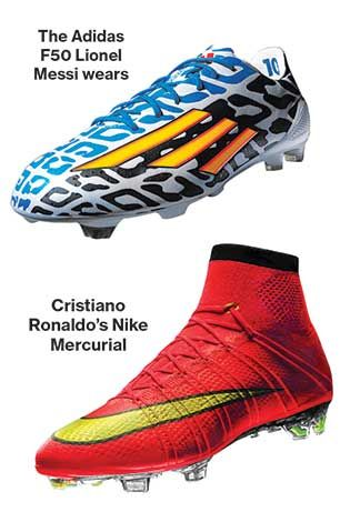 official photos c5079 4d1d8 Messi and Ronaldo s cleats. Businessweek  2014 World Cup  Nike, Adidas Gear  Up for Soccer Duel s Next Round