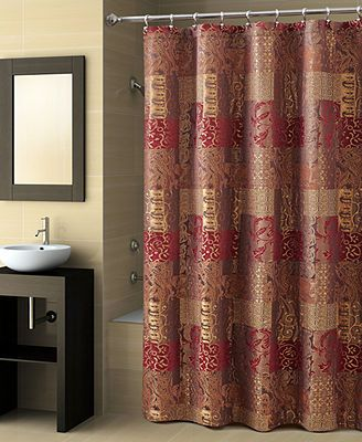 Croscill Opulence Shower Curtain Brown Shower Curtain Striped