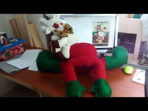 Cómo hacer cuerpo de Noel navideño | Tutorial y moldes - YouTube