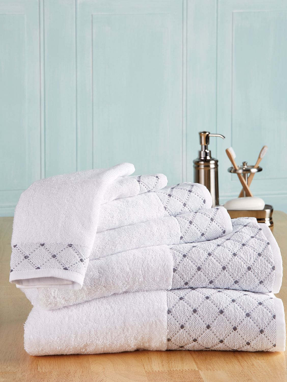 Eileen West 6 Piece Cotton Bath Towel Set Bath Towels Luxury