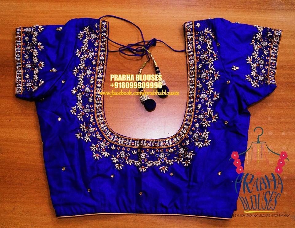 Https Www Facebook Com Prabhablouses Photos A 338846786286723 1073741830 228745977296805 8099 Blue Blouse Designs Cutwork Blouse Designs Fancy Blouse Designs