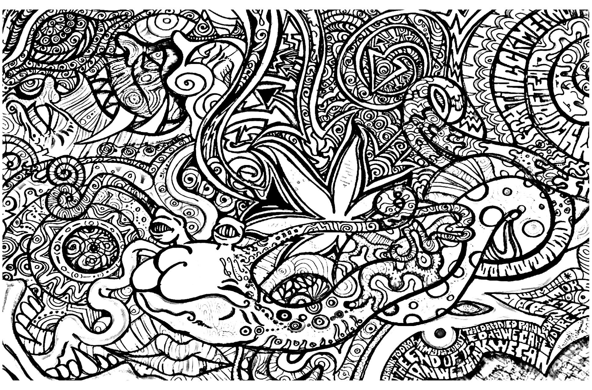 28 Collection Of Trippy Coloring Pages Easy Moon Coloring Pages