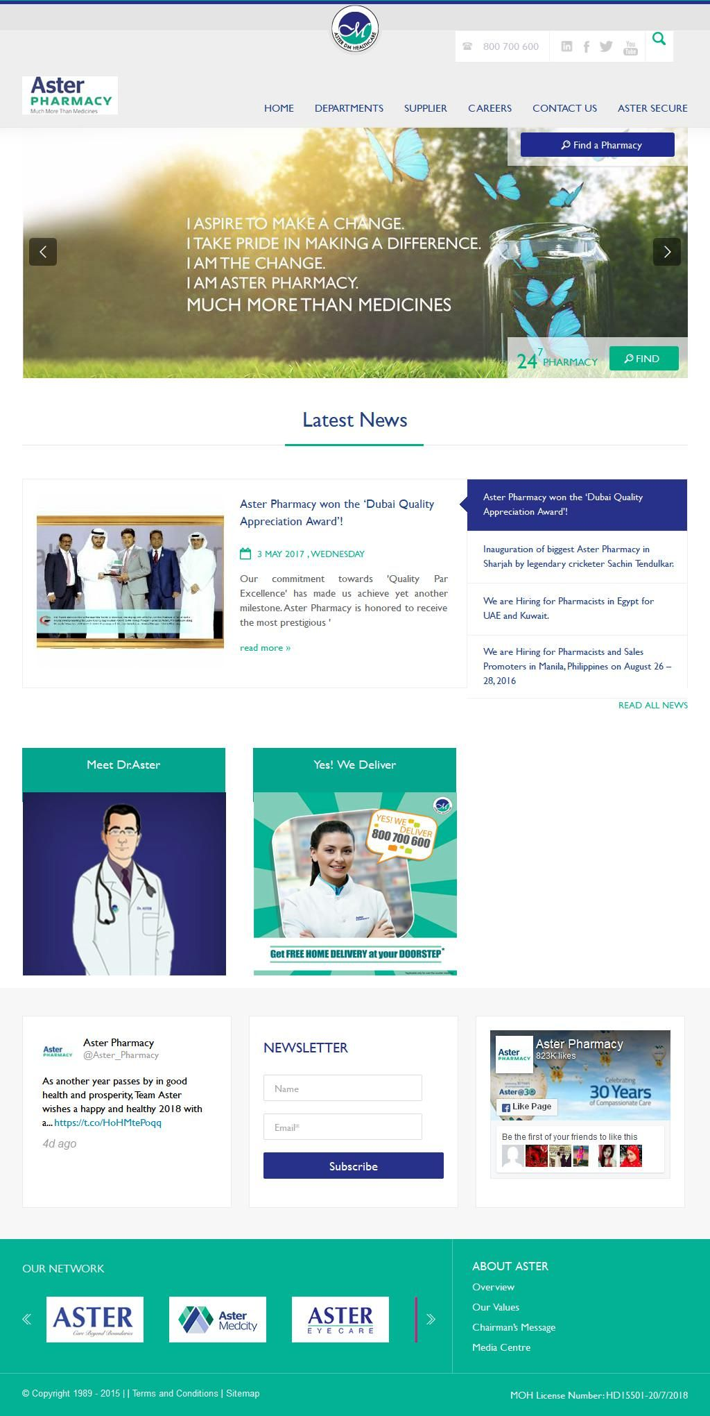 Aster Pharmacy Mazaya Center 160 Sheikh Zayed Road G Floor Al