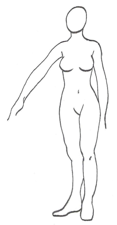 plus size croquis | deviantART: More Like Realistic Female Croquis ...