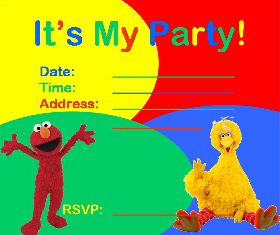sesame street party invitations template RCmC7KRv | Kyla birthday ...